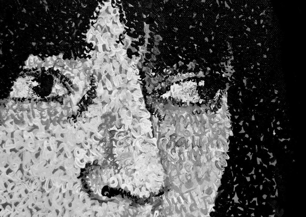 Robert Mapplethorpe & Patti Smith. Detail.