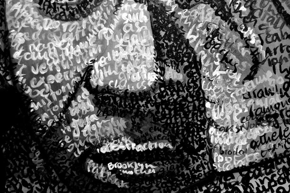 Anna Lopopolo. Basquiat Detail