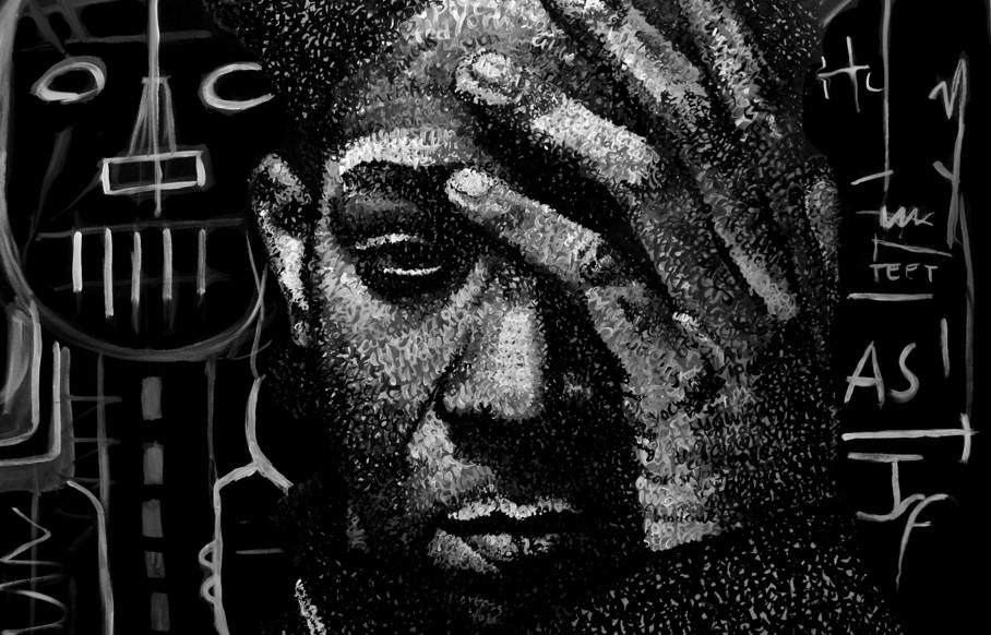 Anna Lopopolo Basquiat detail