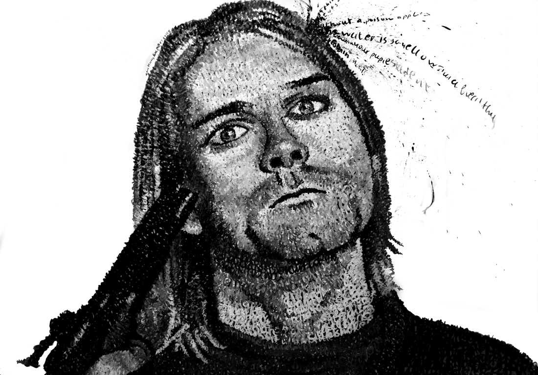 Kurt Cobain. Detail